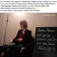 Lesung Vulkanhotel, Steffeln (2015)